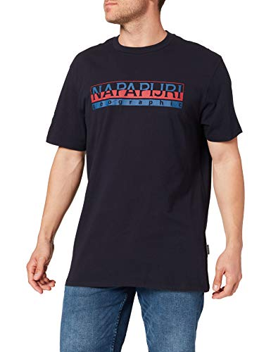 Napapijri SERIS Camiseta, Blu Marine, XL para Hombre