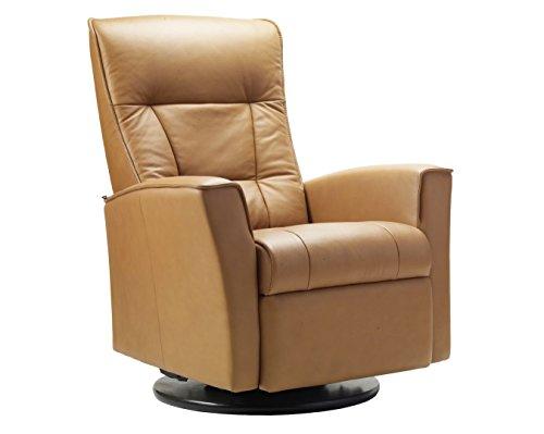 Fjords Ulstein Swing Relaxer Recliner Norwegian Ergonomic Scandinavian Lounge Manual Reclining Chair Furniture Nordic Line Sandel Genuine Leather by Hjellegjerde