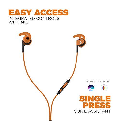 boAt Bassheads 242 in Ear Wired Earphones with Mic(Orange)
