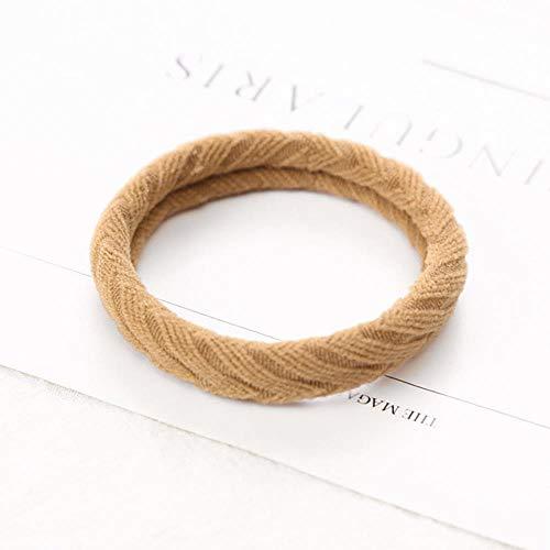 Gouen 10 STKS Dames Meisjes Eenvoudige Basic Elastische Haarbanden Tie Gum Scrunchie PaardenstaartElastiekjesHaaraccessoires, Goud