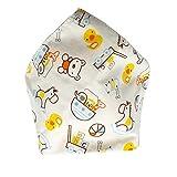Zhou-YuXiang Baberos de algodón para bebés Triángulo Capas Dobles Pañuelo de bebé de Dibujos Animados Baberos de Goteo Accesorios universales para bebés