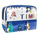 Bolsa de maquillaje portátil con cremallera bolsa de aseo de viaje para mujeres práctico almacenamiento cosmético bolsa buena noche