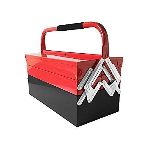 Amazing Tour Folding Iron Tool Box Portable Hardware Household Maintenance Tool Case 3 Layers 5 Tray