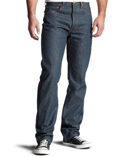 Levi's Men's 501 Original Shrink to Fit Jean, Evergreen/Crispy Stf, 32Wx34L