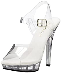 e7aaa6fe6e057 Pleaser Women s Clear 4″ Sandal. Shop Now