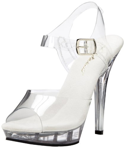 Pleaser Pleaser Lip-108 Damen Pumps, Damen Sandalen, Transparent (clear), 40 EU (7 UK)