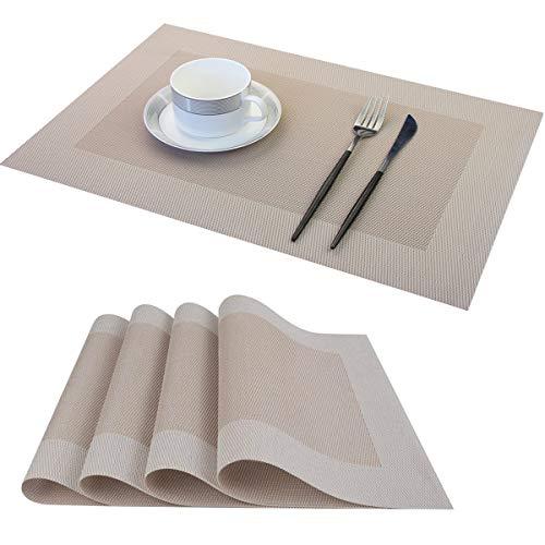 Tovagliette Americana Plastica Lavabili, PVC Tovagliette Set Tovagliette Colazione...