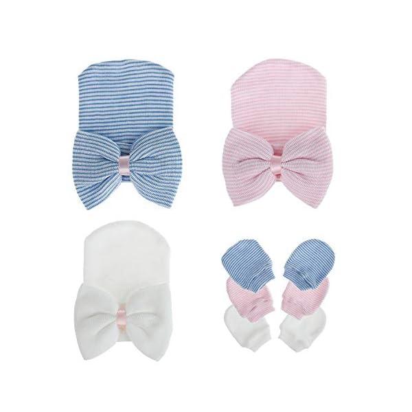 Zando Baby Girl Hat Newborn Hospital Hat Infant Turbans Cute Nursery Beanie Headwraps