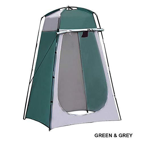 KAIYAN Camping Duschzelt Pop Up Outdoor Duschkabine Mobile Dusche Zelt Popup Umkleidezelt Tragbar Beweglich Camping Wc Zelt Toiletten Garten Toilettenhaus für Camping und Strand, Grün