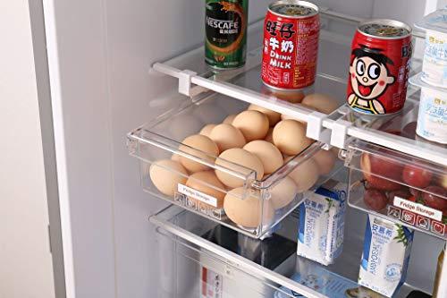 Refrigerator Egg Storage Box Drawer Type Fridge Organizer Fridge Shelf Holder Refrigerator Pull Out Bin Kitchen Organizer Drawer Fridge Egg Box Space Saver Stackable Food Storage Containers
