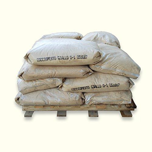 ARTIMESTIERI - Cocciopesto Giallo in polvere per Intonaci, Malte e Intonachino - sacco da 25kg - 0-3 mm