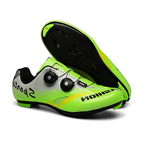 Professional Racing Road Unisex Lightweight Bike Shoes Wear Resistant 1 Pair Cycling Shoes with Lock System and Soft Inner Pad Best Gift for Family and Friends,42