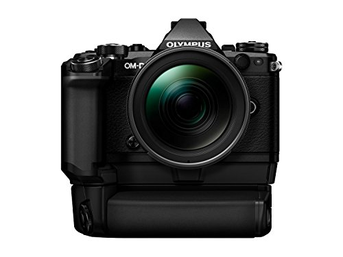Olympus OM-D E-M5 Mark II Kit, Micro Four Thirds System Camera (16.1 MP, 5-Axis Image Stabilisation, Electronic Viewfinder) + M.Zuiko 12-40mm PRO Universal Zoom + Power Battery Holder & Battery, Black