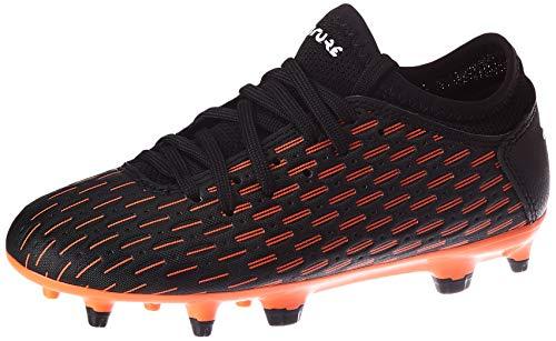 Puma Future 6.4 Fg/ag Jr, Unisex-Kinder Fußballschuh, Schwarz-Puma Weiß-Schockierende Orange