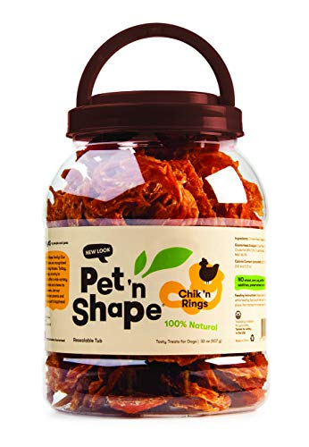 Pet 'n Shape Chik 'N Rings - All Natural Chicken Jerky Dog Treats, 2 Lb New Hampshire