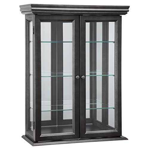 Design Toscano Country Tuscan Wall Curio Cabinet, Ebony Black