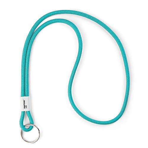 Pantone Design-Schlüsselband Key Chain Long | Schlüsselanhänger robust und farbenfroh | lang | Turkis 320 C | Türkis 48 cm