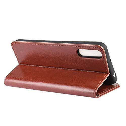 DAMAIJIA für Wiko View4 Lite Hüllen Klapphülle PU Leder Silikon Wallet Schutzhülle Schutz Mobiltelefon Flip Back Cover für Wiko View 4 Lite Tasche Handy Zubehör (Brown)