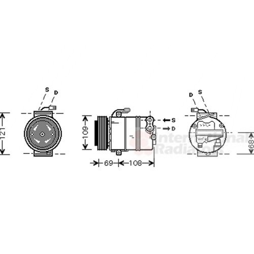 VAN WEZEL 3700K358 Montaggio Aria Condizionata