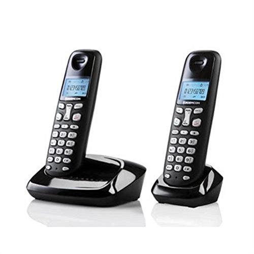 Grundig D160A Duo DECT Schnurlostelefon mit Anrufbeantworter schwarz