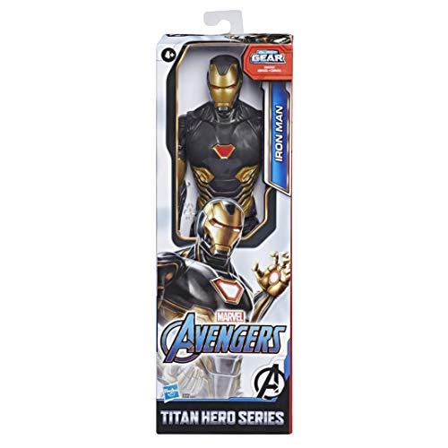 Hasbro Marvel Avengers - Iron Man (Action Figure 30cm con Blaster Titan Hero Blast Gear)