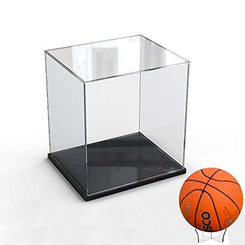 Elepure - Caja de cristal acrílico transparente para colección Lego – Figura mejorada, expositor, caja de exhibición antipolvo con base para juguetes, minifiguras (color negro, 30 x 30 x 30 x 30 cm)