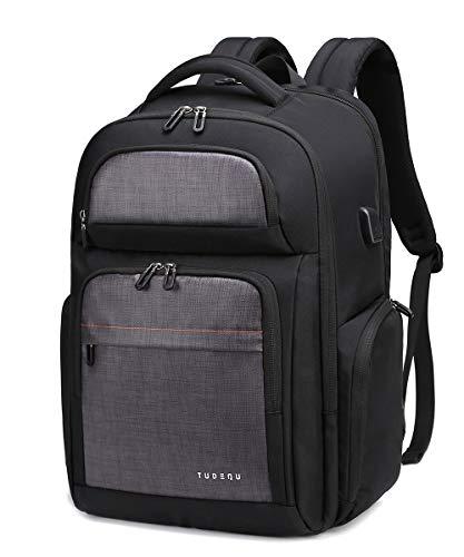 "TUDEQU 17.3"" Laptop Backpack, TSA Travel Computer Bag with WET Pocket,..."