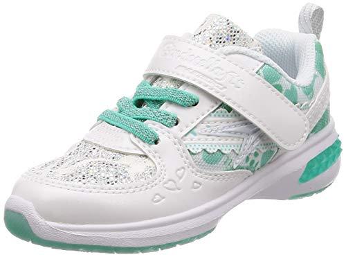[シュンソク] 運動靴 通学履き 瞬足 軽量 シンデレラ フィット 15~24.5cm D キッズ 女の子 LEJ 5760 ホワイト 15.5 cm D