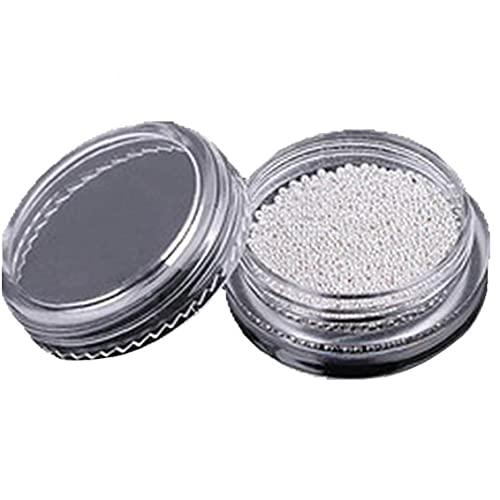 Ruluti 1 Botella Pequeño Círculo Bolas De Plata del Arte del Clavo del Caviar Encantos DIY Accesorios De Manicura De Decoración De Muchachas De Mujeres