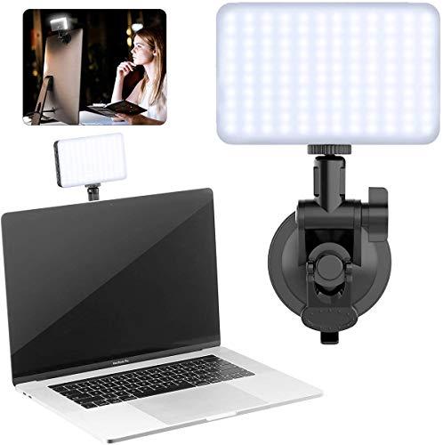 LED-Beleuchtungskit für Videokonferenzen, VIJIM 120 LED-Videolicht mit Wabenrahmen, weiches Licht mit integriertem 3100-mAH-Akku Batteriekamera Fotografie YouTube Videos Studio Vlog