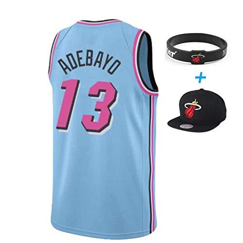 YUUY Bam Adebayo #13 Miami Heat Camiseta de Baloncesto sin Mangas,Camisetas Bordadas a Mano,Multicolor Opcional,Unisex (Color : A, Size : Men-S/M)