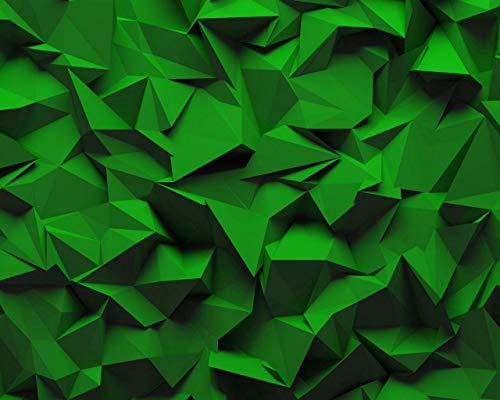 Kpoiuy Pintar por NúMeros DIY Textura Relieve GeoméTrico Volumen Verde DecoracióN De La Boda De La Lona Imagen del Arte Regalo 40 * 50CM Sin Marco