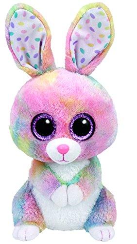 TY 37092 37092-Beanie Boo's Bubby Hase mit Glitzeraugen, 24 cm, Mehrfarbig