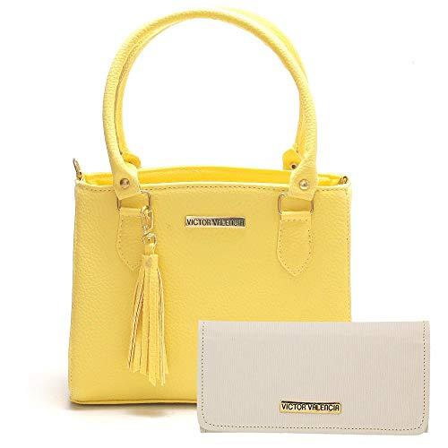 Kit Bolsa Colorida com Carteira Amarela