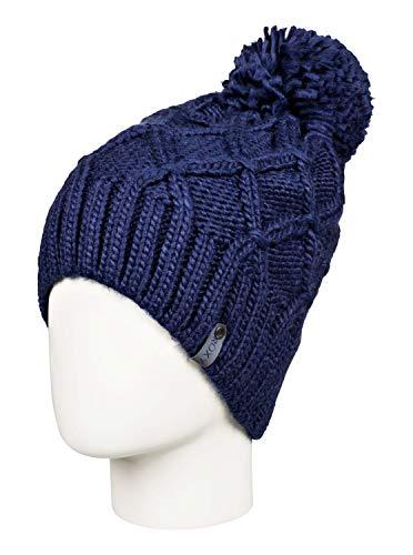 Roxy Winter - Pom-Pom Beanie for Women - Bommelmütze - Frauen - ONE Size - Blau