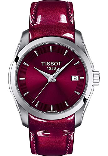 Tissot Damen-Uhren Analog Quarz One Size Leder 87645193
