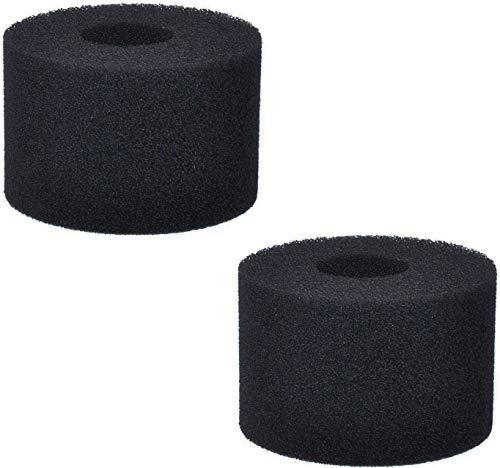 Poweka Esponja de Filtro de Piscina Compatible con In-Tex Tipo S1, Filtro de Cartuchos de Esponja Reutilizable y Lavable para Piscina Jacuzzi SPA Hidromasaje (2 Piezas Negro)