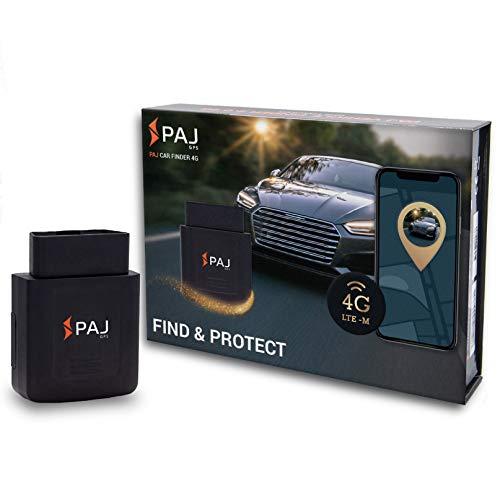 PAJ GPS CAR Finder OBD 4G- Localizzatore GPS per auto, roulotte, camion, camper e altro- Connessione diretta all'interfaccia OBD- Antifurto...
