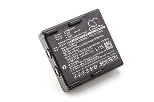 vhbw NiMH Akku 600mAh (9.6V) für Kran-Fernbedienung Remote Control wie Hetronic 68300510, 68300520, 68300530
