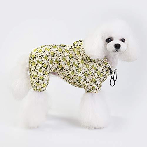 SUNXK Pet kleding huisdier kleding hond kleren hond kleding hond regenjas 19 trendy regenjas vier poten SUNXK (Color : Yellow, Size : XXL)