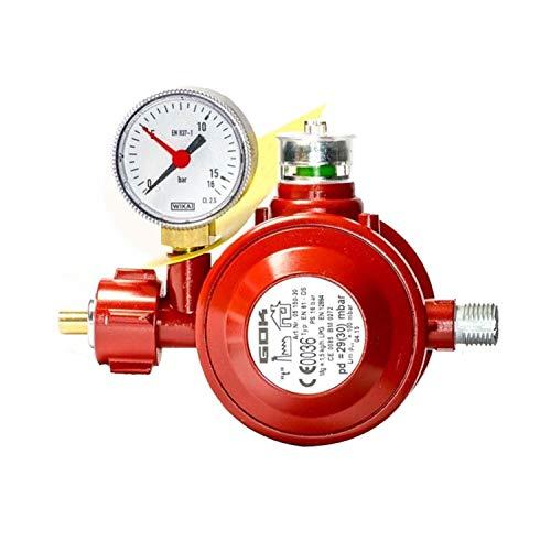 GOK Haushaltsregler / Gasregler für den Einsatz in geschlossenen Räumen, Betriebsdruck:29 (30) mbar