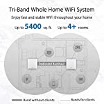 ASUS ZenWiFi AC3000 Tri-Band Mesh WiFi System (CT8 1PK) - Whole Home Coverage up to 2700 sq.ft & 3+ rooms, AiMesh… 11 Banish WiFi Dead Zone—Tri-band mesh WiFi system with unique antenna placement delivers strong WiFi to every corner of your home, providing total wireless speed of 6600Mbps. Next-Gen Wi-Fi 6 Technology— With OFDMA and MU-MIMO, ZenWiFi AX enables more efficient, stable, and faster transmission even when multiple devices are transmitting data at the same time. Hassle Free Control – 3 steps setup and easy management with ASUS Router App