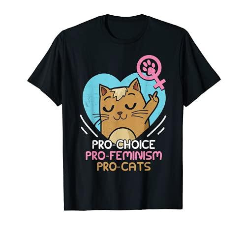 Feminista Cat Lover Pro Choice Gift T-Shirt per tutti Maglietta