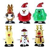 STOBOK Wind Up Toys 6 Piezas Juguetes de relojería de Navidad para favores de Fiesta de Navidad...