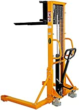 APOLLOLIFT Manual Pallet Stacker with Straddle Legs 1100lbs Capacity 63
