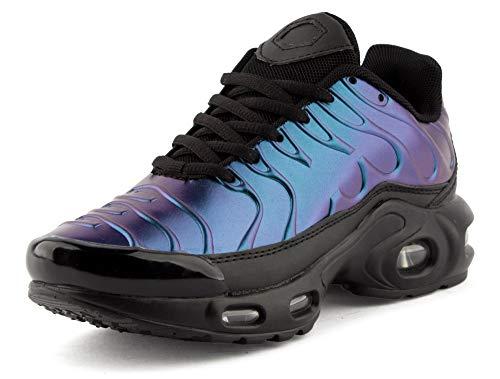 Fusskleidung Damen Herren Sportschuhe Laufschuhe Freizeit Sneaker Unisex Neon Blau EU 36