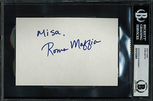 Roma Maffia The West Wing Signed 4x6 Index Card Autographed BAS Slab - Beckett Authentication