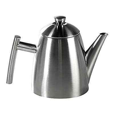 Frieling USA 18/10 Stainless Steel Teapot with Infuser, Tea Warmer with Teapot Infuser for Loose Tea, 34 Ounces