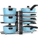 Organizador sartenes, Liesun Organizador de 8 niveles para ollas y sartenes con 3 métodos de bricolaje, organización cocina, organizador ollas, sartenero, organizador sartenes cajon.