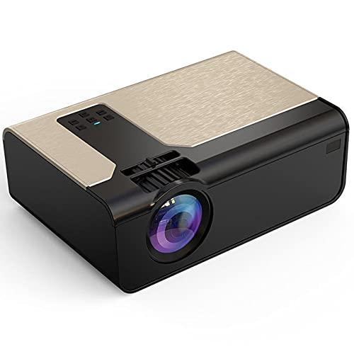GJNWRQCY Proyector inalámbrico en la Misma Pantalla, proyector de Alta definición de 1080p, Alta transmisión de luz, sin daños en los Ojos, Adecuado para Cine en casa,Negro